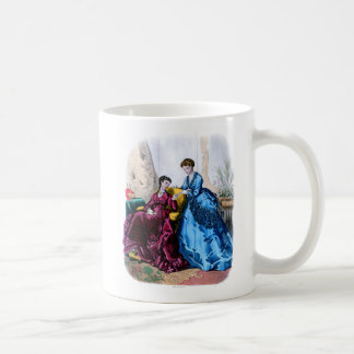 La Mode Illustree Blue and Raspberry Gowns Coffee Mug