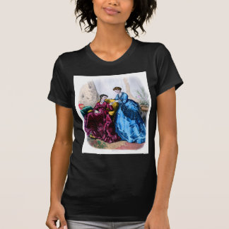 La Mode Illustree Blue and Raspberry Gowns Tshirts