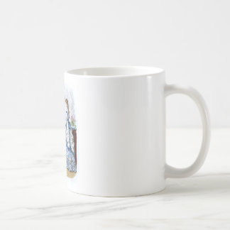 La Mode Illustree Blue & White & Red & Green Gowns Coffee Mug