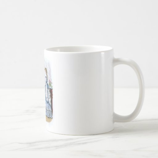 La Mode Illustree Blue & White & Red & Green Gowns Classic White Coffee Mug