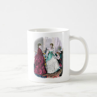 La Mode Illustree Burgundy and Seafoam Gowns Coffee Mug