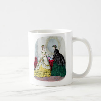 La Mode Illustree Green and Yellow Gowns Coffee Mug