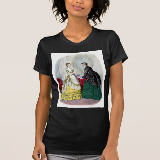 La Mode Illustree Green and Yellow Gowns T Shirt