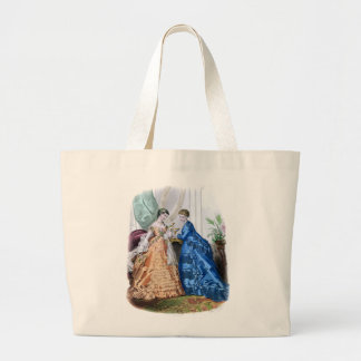 La Mode Illustree Peach and Blue Gowns Bags