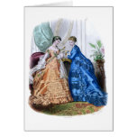 La Mode Illustree Peach and Blue Gowns Card