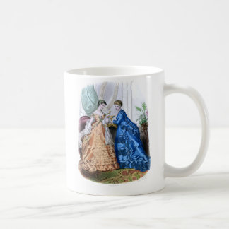 La Mode Illustree Peach and Blue Gowns Coffee Mug