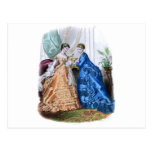 La Mode Illustree Peach and Blue Gowns Postcard