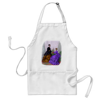 La Mode Illustree Purple and Rust Gowns Adult Apron