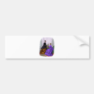 La Mode Illustree Purple and Rust Gowns Bumper Sticker