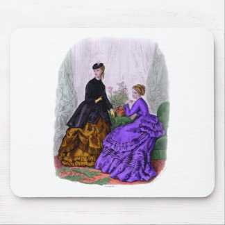 La Mode Illustree Purple and Rust Gowns Mouse Pad