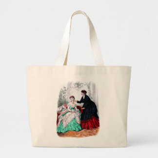 La Mode Illustree Seafoam and Ruby Gowns Tote Bags