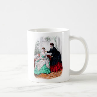 La Mode Illustree Seafoam and Ruby Gowns Coffee Mug
