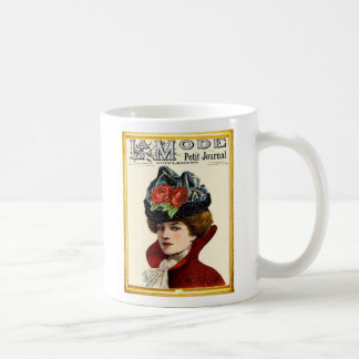 La Mode Lady In Red Coffee Mug