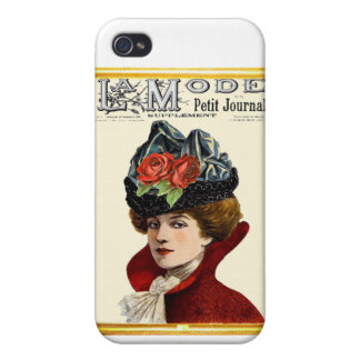 La Mode Lady In Red iPhone 4 Cases