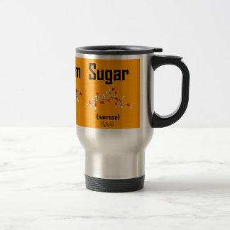 La molécula del café de la crema y del azúcar asa tazas