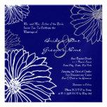La momia blanca y azul florece la invitación del b