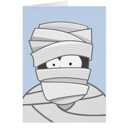 La momia espeluznante embroma la tarjeta de