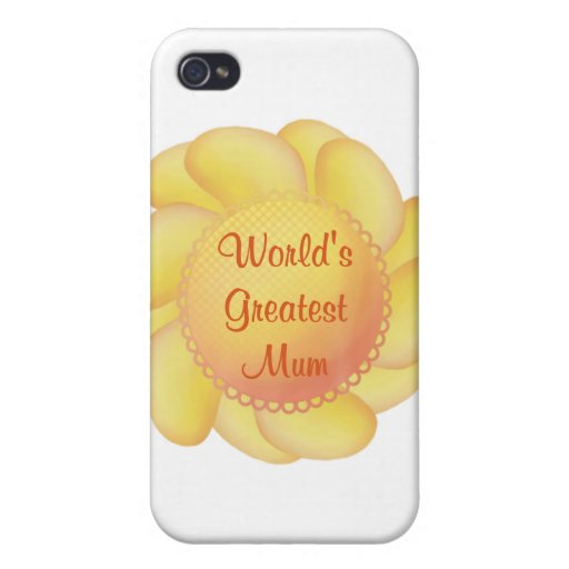 La momia más grande del mundo (flor amarilla) iPhone 4 fundas