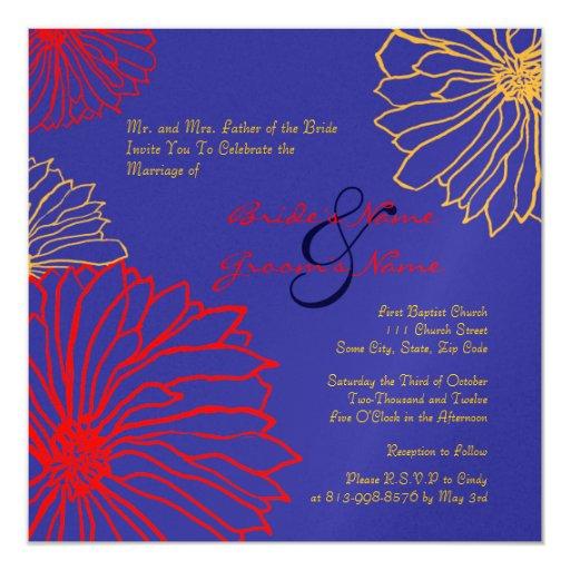 La momia roja y azul florece la invitación del