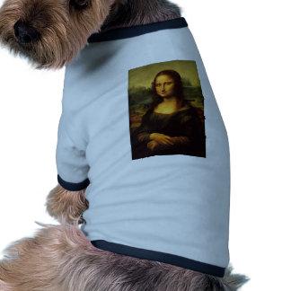 La Mona Lisa de Leonardo da Vinci C. 1503-1505 Camiseta Con Mangas Para Perro