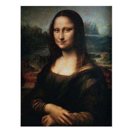 La Mona Lisa de Leonardo da Vinci C. 1503-1505 Postal