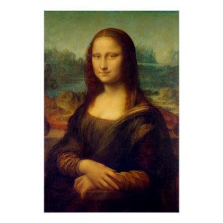 La Mona Lisa de Leonardo da Vinci Perfect Poster