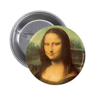 La Mona Lisa de Leonardo da Vinci Pin Redondo 5 Cm