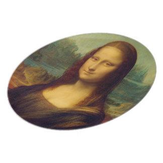 La Mona Lisa de Leonardo da Vinci Plato De Cena