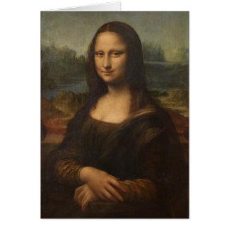 La Mona Lisa de Leonardo da Vinci Felicitacion