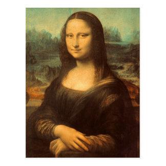 La Mona Lisa de Leonardo da Vinci Postal