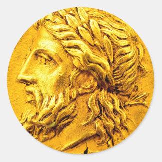 La moneda de oro de Zeus recompensa al pegatina