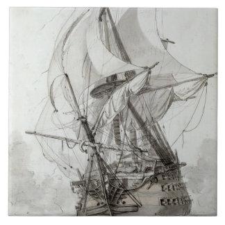 La Montagne, c.1794 (w/c encierre y la tinta) Azulejo Cuadrado Grande