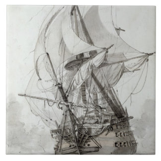 La Montagne, c.1794 (w/c pen & ink) Ceramic Tile