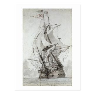La Montagne, c.1794 (w/c pen & ink) Postcard