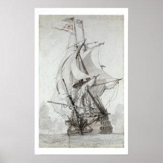 La Montagne, c.1794 (w/c pen & ink) Poster