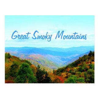 La montaña ahumada pasa por alto tarjetas postales