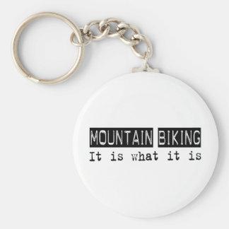 La montaña Biking lo es Llavero Redondo Tipo Pin