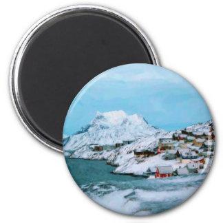 La montaña contiene el estrecho de Davuis de la Imán Redondo 5 Cm