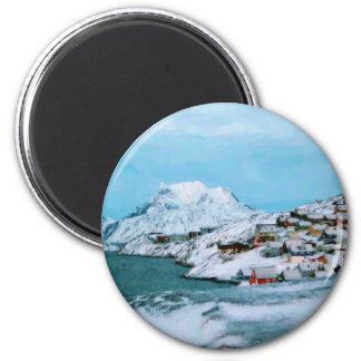 La montaña contiene el estrecho de Davuis de la ni Imán Redondo 5 Cm