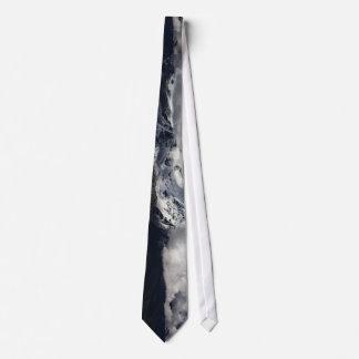La montaña coronada de nieve temática, majestuosa corbatas personalizadas
