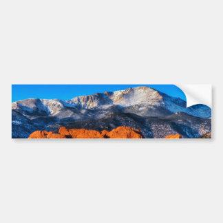 La montaña de América en la salida del sol Pegatina De Parachoque