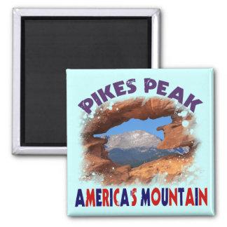 La montaña de América máxima de los lucios Imanes De Nevera