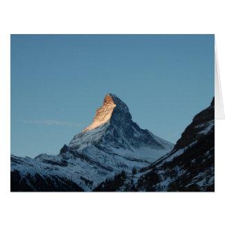 La montaña de Cervino Tarjeta De Felicitación Grande