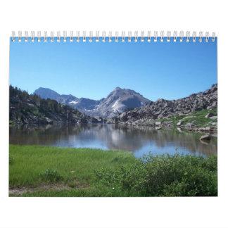 La montaña de los ríos del viento de Wyoming sonó Calendario