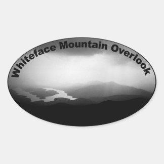 La montaña de Whiteface pasa por alto al pegatina