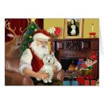 La montaña del oeste Terrier 8 de Santa - Santa Felicitaciones