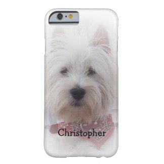 La montaña del oeste Terrier apenas añade nombre Funda De iPhone 6 Barely There