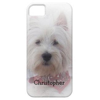 La montaña del oeste Terrier apenas añade nombre iPhone 5 Carcasa