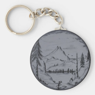 La montaña escapa serie llavero redondo tipo pin