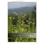 La montaña florece la tarjeta de felicitación